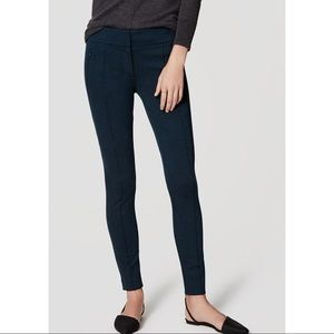 LOFT Ponte Pin Tucked Zipper Legging Business